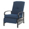 PHI VILLA Adjustable Patio Metal Relaxing Recliner Lounge Chair
