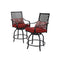 PHI VILLA Outdoor Extra Wide Height Swivel Bar Stools Set