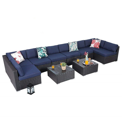 PHI VILLA 10 Piece Outdoor Sectional Sofa