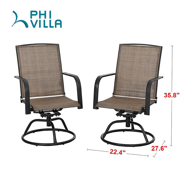 PHI VILLA 3 Piece Swivel Chairs Set