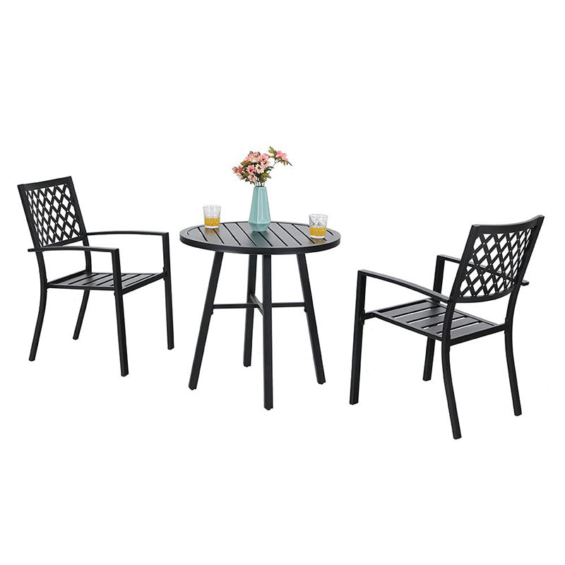 Outdoor 3 Piece Metal Bistro Set