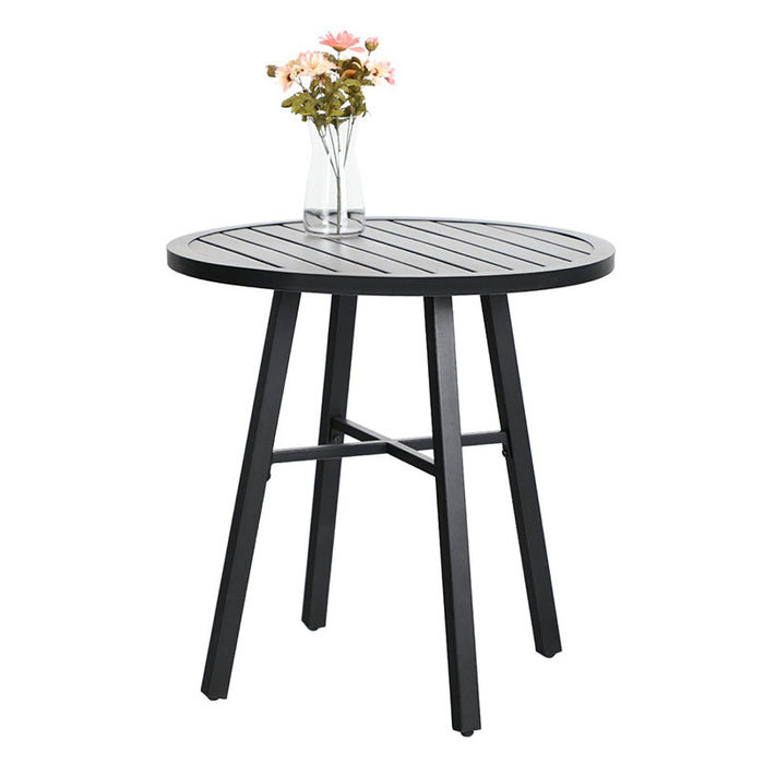 PHI VILLA Outdoor 3 Piece Metal Bistro Set