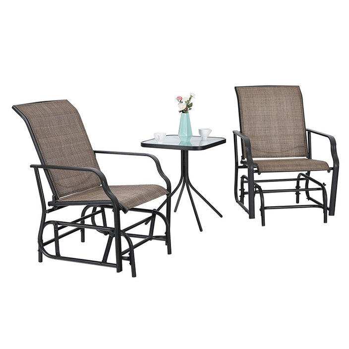 Phi Villa Patio Swing Glider Rocking Chairs Table Set