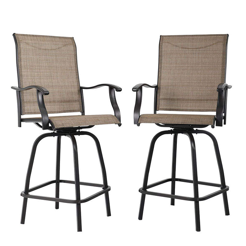 PHI VILLA Height Swivel Bar Stools Set - 2 Chairs