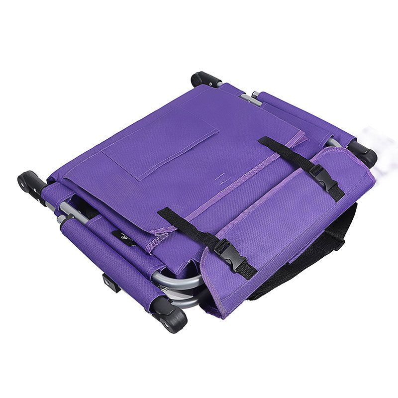 Alpha Camp Purple Stadium Chair with Back and Arm Rest
