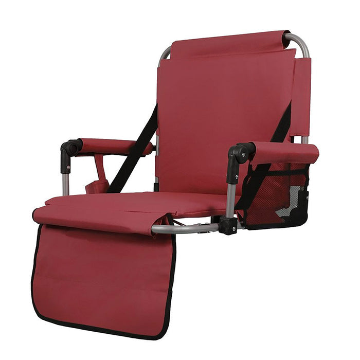 Alpha Camp Red Padded Stadium Seat Chair for Bleachers with Back& Arm Rest