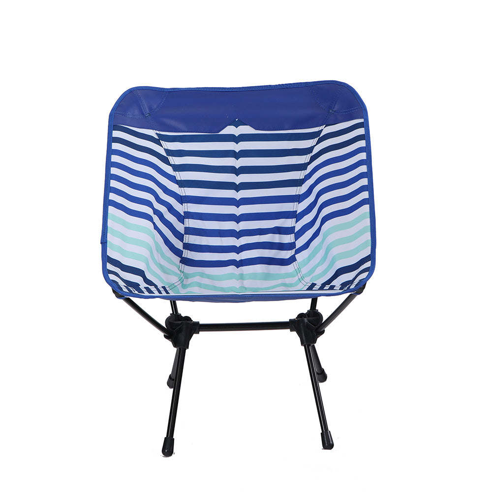 Alphamarts coupon: CAPTIVA DESIGN Ultralight Portable Folding Camping Chairs With Carry Bag Blue Stripe