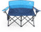 ALPHA CAMP Oversized Portable Camping Chair with Cup Holder Heavy Duty Support Loveseat 450 LBS