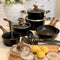 Kitchen Academy 15 Piece Nonstick Granite-Coated Cookware Set