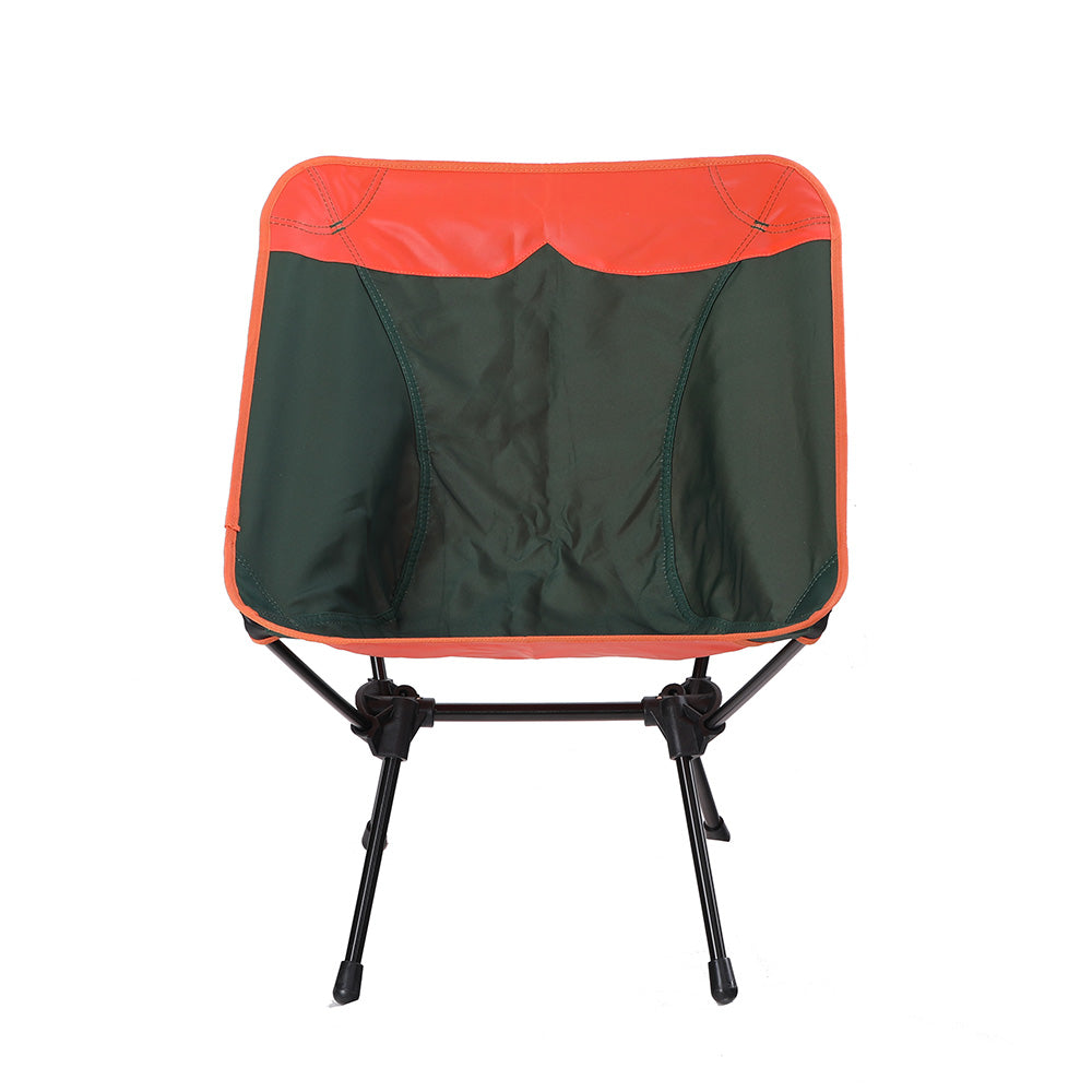 Alphamarts coupon: CAPTIVA DESIGN Ultralight Portable Folding Camping Chairs With Carry Bag Green Orange