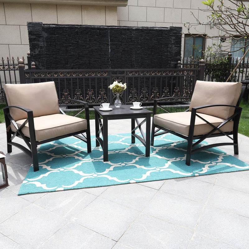 PHI VILLA Outdoor Extra Wide Relaxing Deep Seating Set