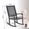Phi Villa Outdoor Acacia Wood Rocking Chair for Garden and Indoor