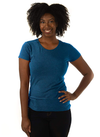 Eco-friendly Women's Hemp T-Shirt in Earth Blue by ONNO available at Monkey in a Dryer.