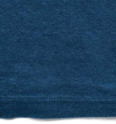 Eco-friendly Women's Hemp T-Shirt in Earth Blue Swatch by ONNO available at Monkey in a Dryer.