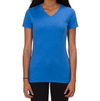 ALLMADE WOMEN'S TRI-BLEND V-NECK Azure Blue T-SHIRT