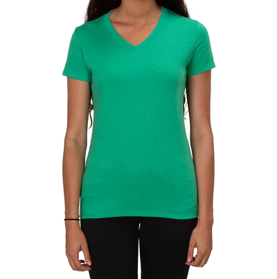 ALLMADE WOMEN'S TRI-BLEND V-NECK  Enviro Green T-SHIRT