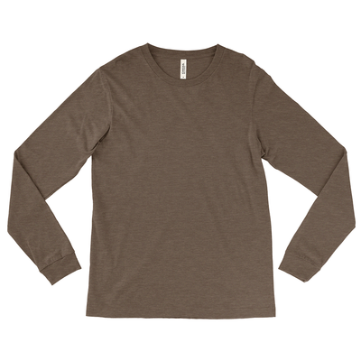 Bella + Canvas Unisex 50/50 Cotton/Poly Long Sleeve Jersey T-Shirt