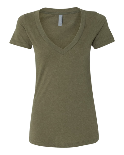 Next Level Women's Deep V-Neck 60/40 CVC T-Shirt