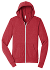 Bella + Canvas Unisex Triblend Lightweight Hooded Full-Zip Tee