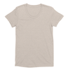Eco-friendly Women's Hemp T-Shirt in Sand by ONNO available at Monkey in a Dryer.