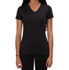 ALLMADE WOMEN'S TRI-BLEND V-NECK Space Black T-SHIRT