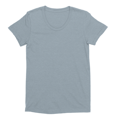 Eco-friendly Women's Hemp T-Shirt in Steel Blue by ONNO available at Monkey in a Dryer.