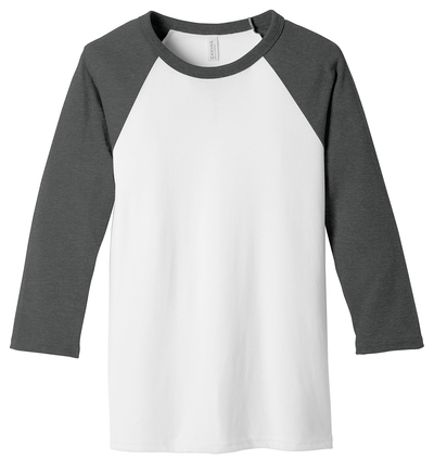 Bella + Canvas Unisex 60/40 Three-Quarter Sleeve Baseball T-Shirt