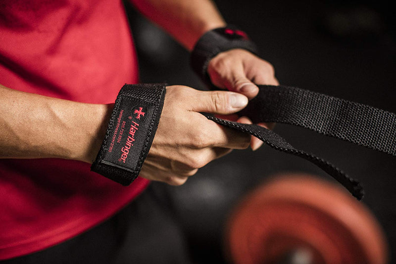 Harbinger Padded Cotton Lifting Straps with NeoTek Cushioned Wrist | P