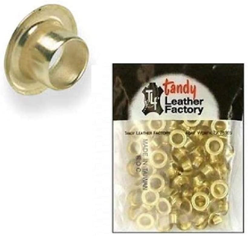 Tandy Leather Eyelets 100 Pk 1 4 6 Mm Brass Plated 1287 11