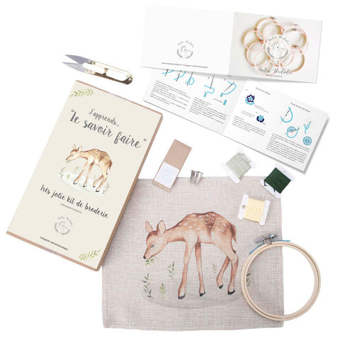 Mini Kit para bordar Elefante