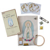 Kit para bordar Virgen de Lourdes