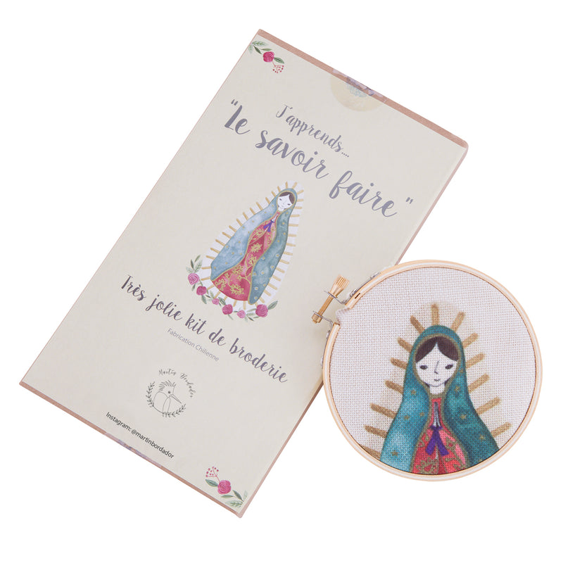 Kit para bordar Virgen de Guadalupe