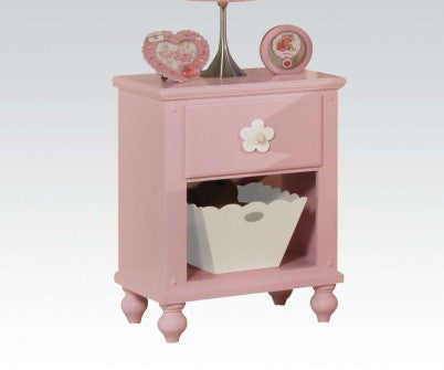 FLORESVILLE  PINK WITH WHITE FLOWER NIGHTSTAND
