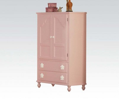 FLORESVILLE PINK WITH WHITE FLOWER TV ARMOIRE