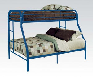 BLUE FRAME TWIN / QUEEN BUNK BED