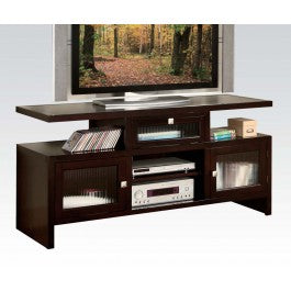 Coffee Brown Folding TV Stand