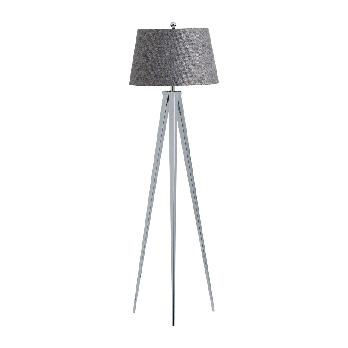 The Genoa Chrome Tripod Floor Lamp-Accents & Lighting-Furniture Walk UK