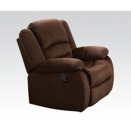 Brown Velvet Rocker Recliner