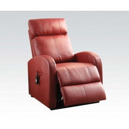Red Rocket Pleather Recliner with Power Lift
