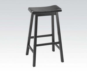 "WOODEN BLACK 29"" SOLID WOOD STOOL"