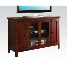 Cherry Tall 2 Door & 2 Shelf TV Storage