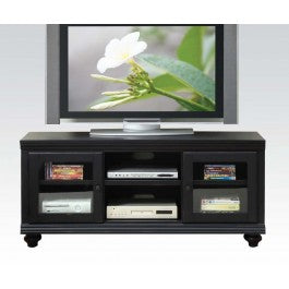 Ebony Finish 2 Door & 2 Shelf TV Storage