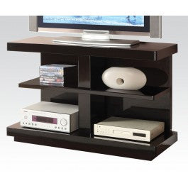 Ebony Black 4 Shelf Open TV Stand