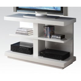 Egg White 4 Shelf Open TV Stand