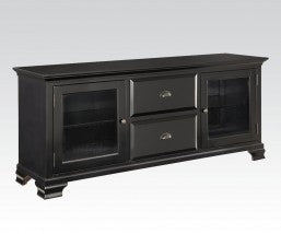 China Black Finished 2 Draw TV Cabinet