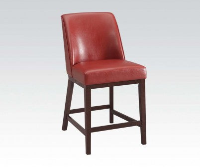 "RED COUNTER 26"" HEIGHT CHAIR"