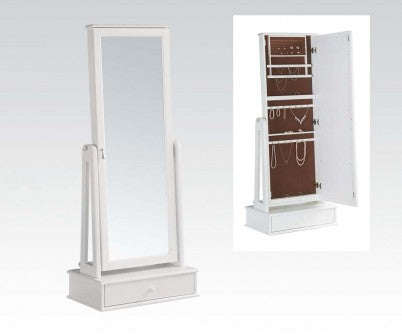 ANDRES WHITE JEWELRY ARMOIRE