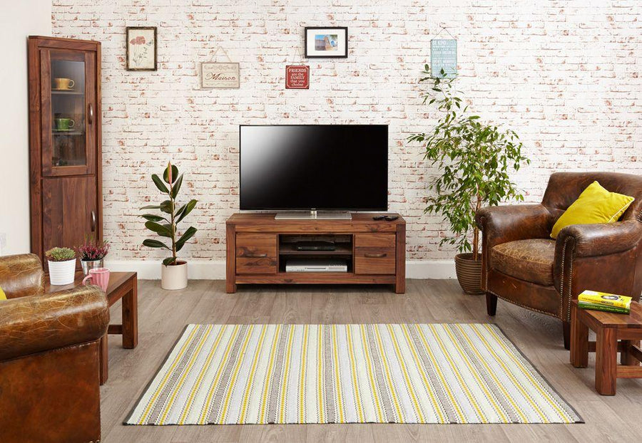 Mia Walnut Low Widescreen Television Cabinet