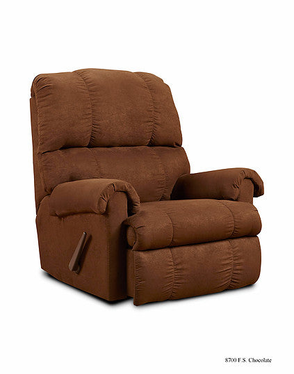 Flat Suede Chocolate Recliner