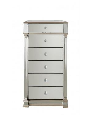 Champagne Apollo Mirror 6 Drawer Cabinet-Bedroom-Furniture Walk UK
